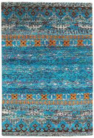 Quito - Turquoise Tapis 160X230 Moderne Fait Main Bleu Turquoise/Gris Foncé (Soie, Inde)