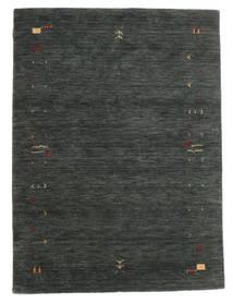 Gabbeh Loom Frame - Gris Foncé/Vert Tapis 140X200 Moderne Vert Foncé/Vert Foncé (Laine, Inde)