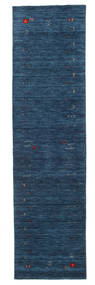 Gabbeh Loom Frame - Bleu Foncé Tapis 80X300 Moderne Tapis Couloir Bleu Foncé (Laine, Inde)