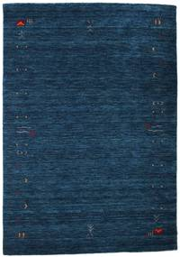 Gabbeh Loom Frame - Bleu Foncé Tapis 140X200 Moderne Bleu Foncé (Laine, Inde)