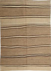 Kilim Moderne Tapis 166X232 Moderne Tissé À La Main Marron Clair/Beige Foncé (Laine, Perse/Iran)