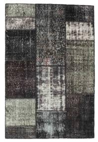 Patchwork Tapis 121X183 Moderne Fait Main Gris Foncé/Noir (Laine, Turquie)