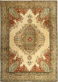 Tabriz Tapis 270X380 D'orient Fait Main Beige Foncé/Marron Clair Grand (Laine, Perse/Iran)