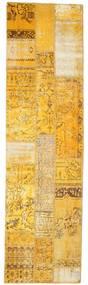 Patchwork Tapis 81X299 Moderne Fait Main Tapis Couloir Marron Clair/Jaune (Laine, Turquie)