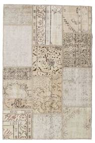 Patchwork Tapis 122X185 Moderne Fait Main Gris Clair/Blanc/Crème (Laine, Turquie)