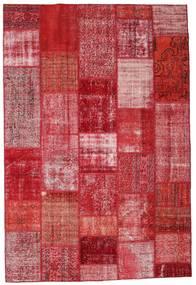 Patchwork Tapis 201X299 Moderne Fait Main Rouge/Rose (Laine, Turquie)