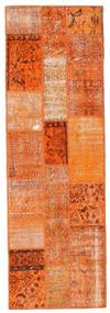 Patchwork Tapis 79X247 Moderne Fait Main Tapis Couloir Orange/Marron Clair (Laine, Turquie)
