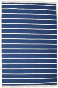 Dhurrie Stripe - Bleu Foncé Tapis 220X320 Moderne Tissé À La Main Bleu Foncé/Bleu (Laine, Inde)