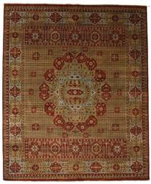 Damask Tapis 254X308 Moderne Fait Main Marron/Marron Foncé Grand ( Inde)