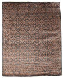 Damask Tapis 232X292 Moderne Fait Main Marron Foncé/Marron ( Inde)