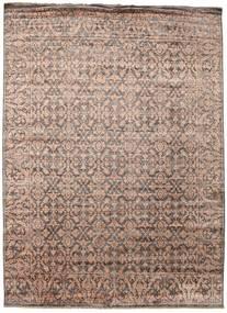 Damask Tapis 257X352 Moderne Fait Main Marron/Gris Clair Grand ( Inde)