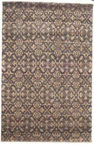 Damask Tapis 170X263 Moderne Fait Main Gris Clair/Marron Clair ( Inde)