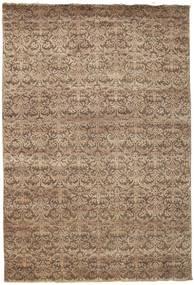 Damask Tapis 207X304 Moderne Fait Main Marron/Marron Clair ( Inde)