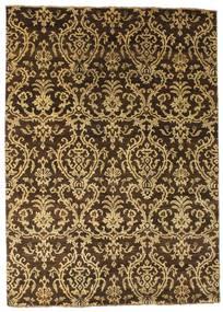 Damask Tapis 172X240 Moderne Fait Main Marron Foncé/Marron Clair ( Inde)
