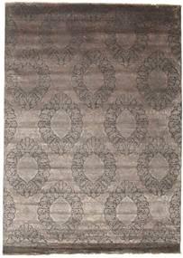 Damask Tapis 251X350 Moderne Fait Main Gris Clair/Marron Foncé Grand ( Inde)
