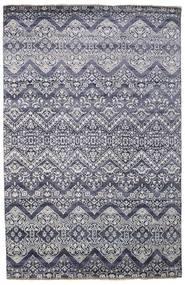 Damask Tapis 200X305 Moderne Fait Main Gris Clair/Gris Foncé ( Inde)