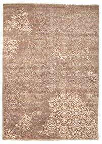 Damask Tapis 175X245 Moderne Fait Main Marron/Marron Clair ( Inde)