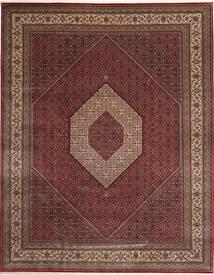 Bidjar Indo Tapis 303X392 D'orient Fait Main Rouge Foncé/Marron Grand (Laine, Inde)