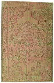 Colored Vintage Tapis 183X284 Moderne Fait Main Marron Clair/Vert Clair (Laine, Turquie)