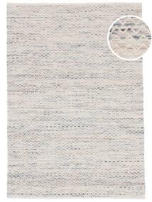 Chevron Waves - Clair Tapis 160X230 Moderne Tissé À La Main Beige/Gris Clair ( Inde)