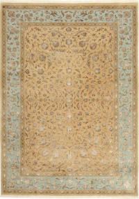 Tabriz Royal Magic Tapis 172X244 D'orient Fait Main Marron Clair/Beige Foncé ( Inde)