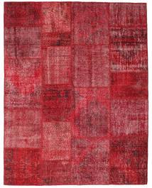 Patchwork Tapis 198X252 Moderne Fait Main Rouge Foncé/Rouge (Laine, Turquie)