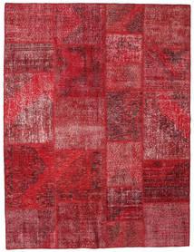 Patchwork Tapis 192X251 Moderne Fait Main Rouge Foncé/Rouge (Laine, Turquie)