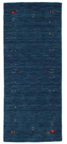 Gabbeh Loom Frame - Bleu Foncé Tapis 80X200 Moderne Tapis Couloir Bleu Foncé (Laine, Inde)