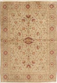 Yazd Tapis 169X244 D'orient Fait Main Beige Foncé/Marron Clair (Laine, Perse/Iran)