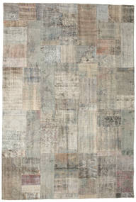Patchwork Tapis 201X299 Moderne Fait Main Gris Clair (Laine, Turquie)