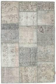 Patchwork Tapis 119X181 Moderne Fait Main Gris Clair/Gris Foncé (Laine, Turquie)