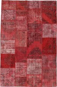 Patchwork Tapis 196X301 Moderne Fait Main Rouge Foncé/Violet (Laine, Turquie)