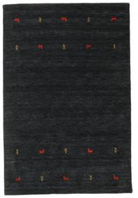 Gabbeh Loom Two Lines - Noir/Gris Tapis 140X200 Moderne Noir (Laine, Inde)