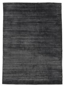 Bambou Soie Loom - Charcoal Tapis 140X200 Moderne Gris Foncé/Noir ( Inde)