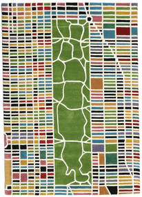 New-York/Manhattan Handtufted - Multi Tapis 160X230 Moderne Beige/Vert Foncé (Laine, Inde)