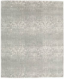 Himalaya Tapis 245X304 Moderne Fait Main Gris Clair (Laine/Soie De Bambou, Inde)