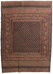 Kilim Golbarjasta Tapis 132X188 D'orient Tissé À La Main Marron Foncé/Marron (Laine, Afghanistan)