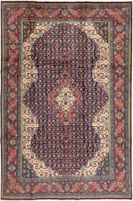 Sarough Tapis 200X305 D'orient Fait Main Gris Foncé/Rouge Foncé (Laine, Perse/Iran)