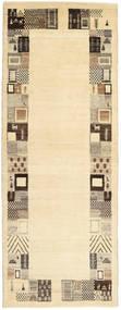 Lori Baft Persan Tapis 82X217 Moderne Fait Main Tapis Couloir Beige/Beige Foncé (Laine, Perse/Iran)