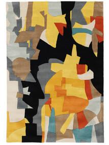Rasmus Tapis 160X230 Moderne Noir/Marron Clair (Laine, Inde)