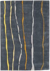 Flaws Handtufted - Gris Tapis 140X200 Moderne Gris Foncé/Bleu Foncé (Laine, Inde)