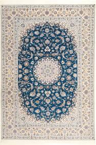 Naïn 6La Habibian Tapis 204X304 D'orient Fait Main Gris Clair/Blanc/Crème (Laine/Soie, Perse/Iran)