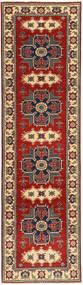 Kazak Tapis 78X290 D'orient Fait Main Tapis Couloir Rouge Foncé/Marron Foncé (Laine, Pakistan)