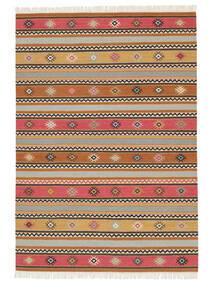 Kilim - Nezzim - Nezzim Tapis 170X240 Moderne Tissé À La Main Marron Clair/Gris Clair ( Inde)