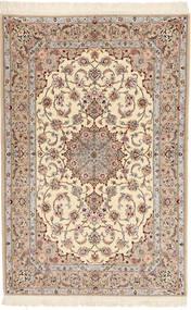 Ispahan Chaîne De Soie Davudi Tapis 130X202 D'orient Fait Main Beige/Gris Clair (Laine/Soie, Perse/Iran)