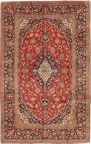 Kashan Tapis 192X306 D'orient Fait Main Rouge Foncé/Marron Clair (Laine, Perse/Iran)