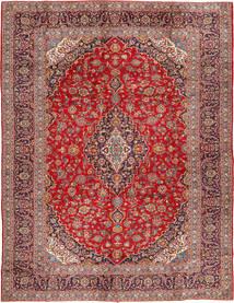 Kashan Tapis 290X390 D'orient Fait Main Rouge Foncé/Rouille/Rouge Grand (Laine, Perse/Iran)