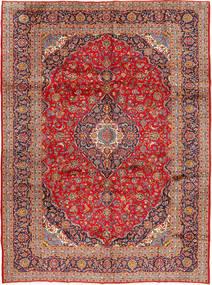 Kashan Tapis 298X397 D'orient Fait Main Rouille/Rouge/Rouge Foncé Grand (Laine, Perse/Iran)