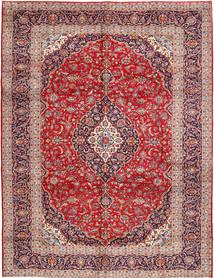 Kashan Tapis 300X385 D'orient Fait Main Marron/Rouge Foncé Grand (Laine, Perse/Iran)