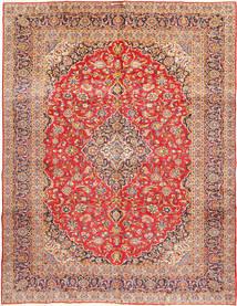 Kashan Signature : Kashan Ghotbi Tapis 303X400 D'orient Fait Main Rouille/Rouge/Rouge Foncé Grand (Laine, Perse/Iran)